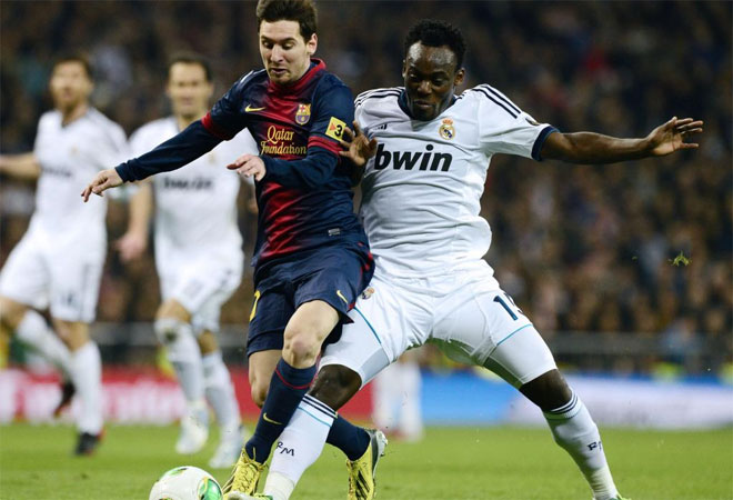 Essien vs Messi